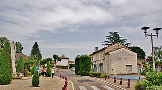 Les Artigues-de-Lussac - The centre of Les Artigues-de-Lussac