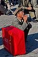 0908 - Nordkorea 2015 - Pjöngjang - Public Viewing am Bahnhofsplatz (22988410271).jpg