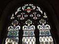 095 Castell de Santa Florentina (Canet de Mar), vitrall del saló del tron.JPG
