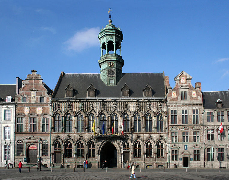 Mons (Belgium), the city hall ((1458-1477)..