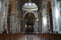 Nave central de la Basílica de San Pedro Vaticano