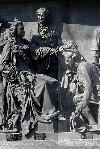 Г.А.Потёмкин на Памятнике «1000-летие России» в Великом Новгороде