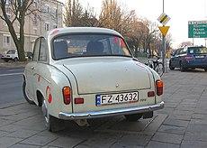 Syrena 105 - tył auta
