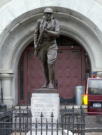 14th Regiment Armory, Brooklyn - Image: 14th Armory statue jeh