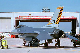 127th Air Refueling Group - 191st Fighter Group F-16A interceptor, 1991