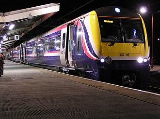 British Rail Class 175 - Image: 175115 at Crewe
