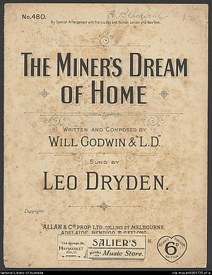 Leo Dryden - 1890 Sheet music