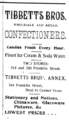 1899 Tibbetts Bros confectioner advert Franklin Street in Tampa Florida.png