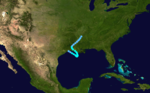1908 Atlantic tropical storm 4 track.png