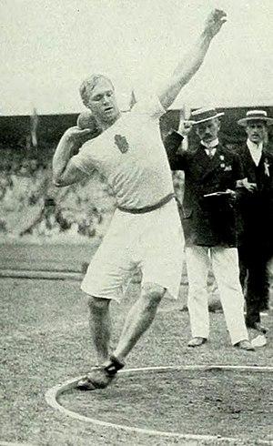 Athletics at the 1912 Summer Olympics – Men's two handed shot put - Bronze medalist Elmer Niklander.