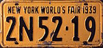 1939 New York license plate.JPG