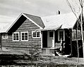 1940. New laboratory living quarters. W.D. Bedard on steps. Pack Forest, La Grande, Washington. (38710120020).jpg