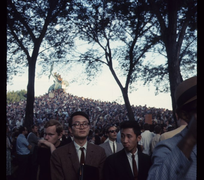 1968 Democratic National Convention, Chicago. Sept 68 C15 8 1313, Photo by Bea A Corson, Chicago. Purchased at estate sale in 2011 by Victor Grigas Released Public Domain.tiff