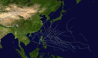 1979 Pacific typhoon season - Image: 1979 Pacific typhoon season summary