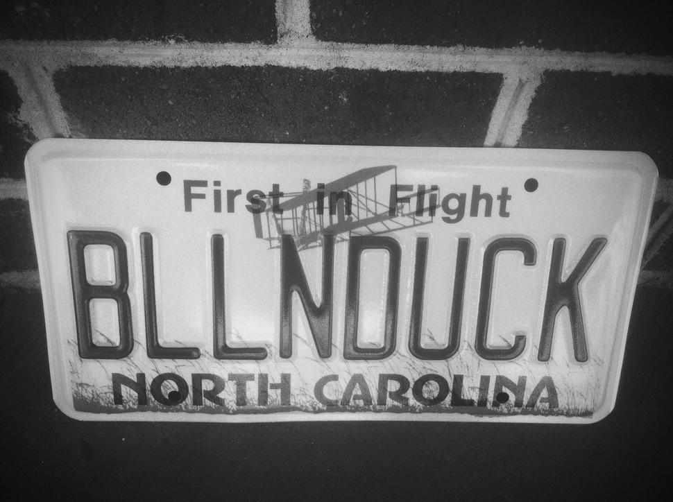 1981 North Carolina license plate Balloonduck