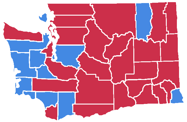 1988 Washington senatorial election map