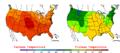 2005-07-24 Color Max-min Temperature Map NOAA.png