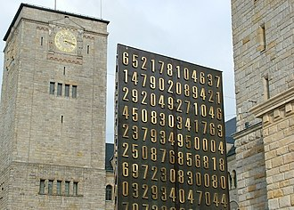Cryptography - Poznań monument (center) to Polish cryptanalysts whose breaking of Germany's Enigma machine ciphers, beginning in 1932, altered the course of World War II