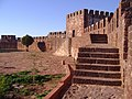 2008-11-17 Tower and walls of Silves Castle.JPG