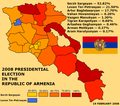 2008 Armenian presidential election map.png