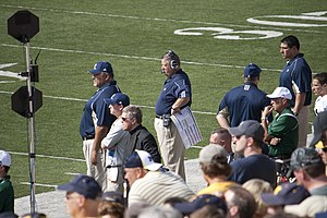 Charlie Weis - Weis on the sidelines during the 2009 season