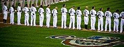 The 2010 Seattle Mariners on Opening Day.