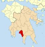 Χάρτης του Δήμου Δυτικής Μάνης