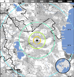 2012 Iran earthquake 6,4 - Population Exposure.png