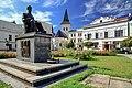 2012 Karwina, Frysztat, Skwer z pomnikiem prezydenta Masaryka (04).jpg