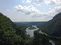 2013-08-20 13 26 32 View of the Delaware Water Gap from about 720 feet on the Mount Tammany Trail.jpg