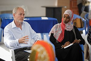 Nicholas Kay - Kay attending a seminar with Somali women activists.