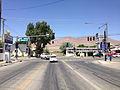 2014-06-12 12 09 16 View west at the western terminus of Nevada State Route 787 (Hanson Street) at U.S. Route 95 (West Winnemucca Boulevard) in Winnemucca, Nevada.JPG