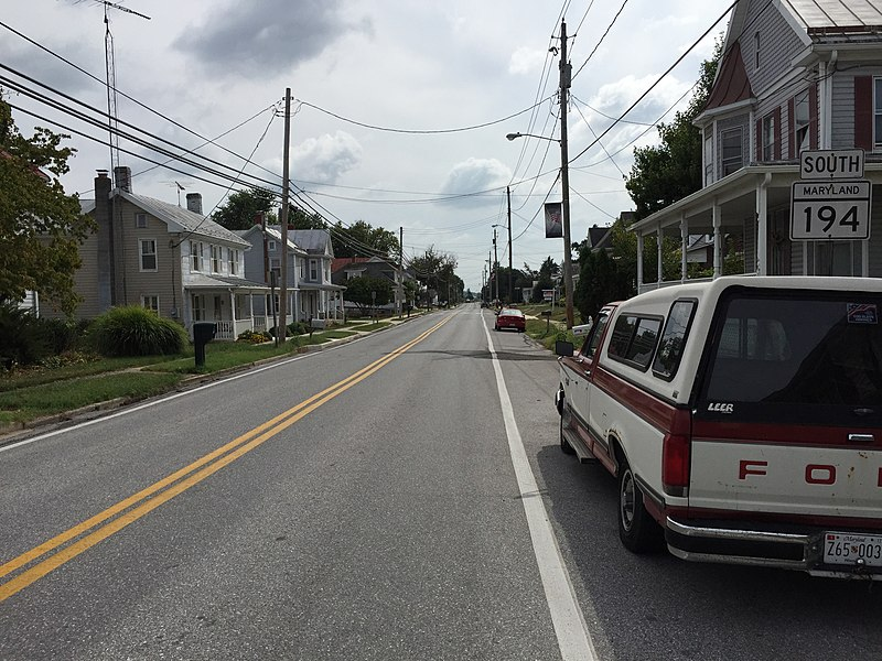 File:2016-09-20 14 12 15 View south along Main Street at Liberty Street in Woodsboro, Frederick County, Maryland.jpg