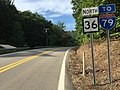 2017-07-24 17 45 22 View north along West Virginia State Route 36 (Wallback Road) at West Virginia State Route 4 in Maysel, Clay County, West Virginia.jpg