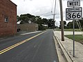 2017-08-28 10 14 57 View west along Maryland State Route 366 (Stockton Road) at Maryland State Route 12 (Church Street) in Stockton, Worcester County, Maryland.jpg