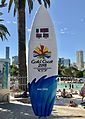 2018 Commonwealth Games countdown clock in South Bank Parklands, on 26 March 2017.jpg