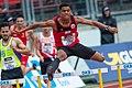 2018 DM Leichtathletik - 400-Meter-Huerden Maenner - Joshua Abuaku - by 2eight - DSC7175.jpg