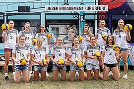 2019-08-27 Volleyball, Bundesliga Frauen, Schwarz-Weiss Erfurt Volleyteam, Teampräsentation IMG 6030 LR10 by Stepro.jpg
