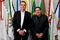 2019 Presidente da República, Jair Bolsonaro durante a transmissão de cargo para o Vice-Presidente da República, Hamilton Mourão.jpg