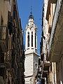 218 Campanar de Sant Joan (Valls), des del carrer de l'Església.jpg