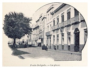 Ponta Delgada - The main square in Ponta Delgada, around 1899