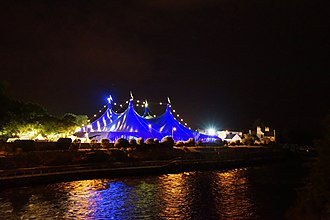 Galway International Arts Festival - View of the Big Top at night