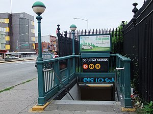 36th Street (BMT Fourth Avenue Line) - Station entrance
