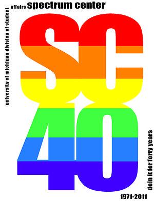 Spectrum Center (community center) - 40th Anniversary Logo (2011)