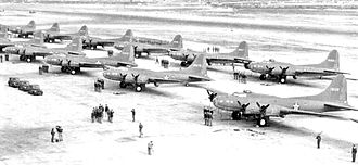 911th Air Refueling Squadron - 411th Bombardment Squadron B-17E Flying Fortresses at Gowen Field, Idaho, 1943