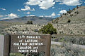 45th Parallel Sign, Yellowstone Park.jpg