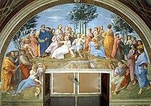 The Parnassus, 1511, Stanza della Segnatura (Source: Wikimedia)