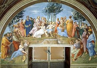Raphael - The Parnassus, 1511, Stanza della Segnatura