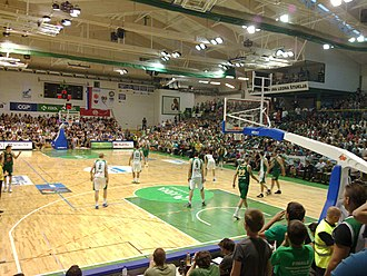 KK Krka - Fifth game of the Slovenian League finals in 2011, showing Leon Štukelj hall from southeast side