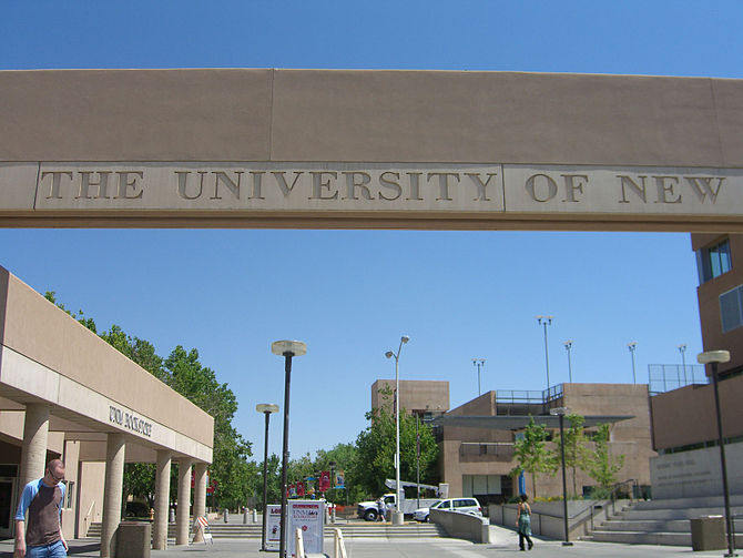 The University of New Mexico, in Albuquerque, New Mexico